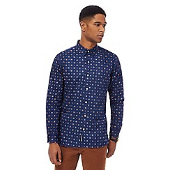 Hammond & Co. by Patrick Grant - Navy hexagon print shirt