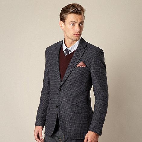 Hammond & Co. by Patrick Grant - Big and tall designer navy +Rutland+ houndstooth blazer