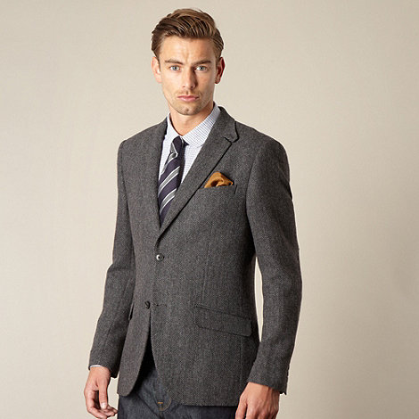 Hammond & Co. by Patrick Grant - Designer grey +Ruskin+ herringbone blazer