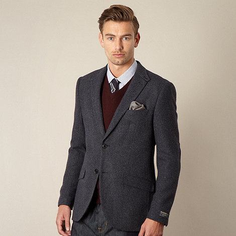 Hammond & Co. by Patrick Grant - Designer navy +Ruskin+ herringbone blazer
