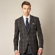 Big and tall designer grey nutford extreme check blazer