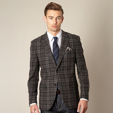 Hammond & Co. by Patrick Grant - Big and tall designer grey nutford extreme check blazer