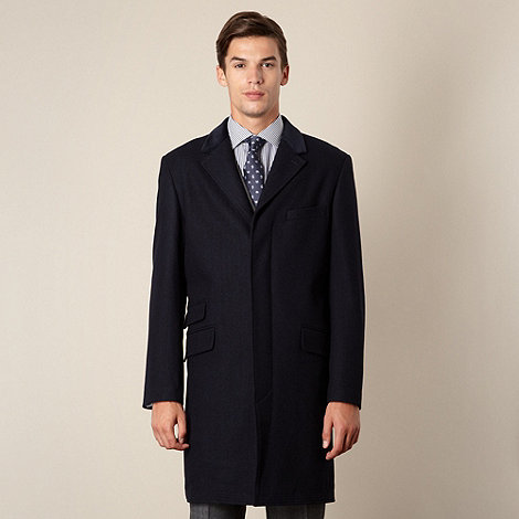 Hammond & Co. by Patrick Grant - Designer navy +Spellbrook+ velvet collar coat