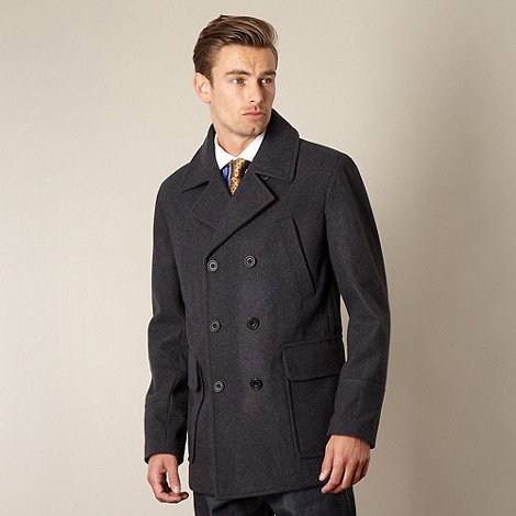 Hammond & Co. by Patrick Grant - Designer dark grey +Sanford+ wool blend peacoat