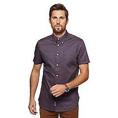 Hammond & Co. by Patrick Grant - Big and tall navy paisley print short sleeve shirt
