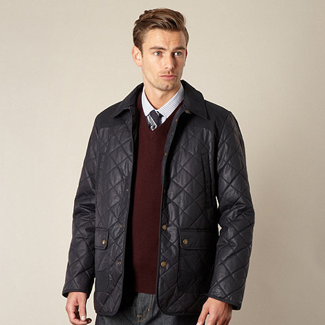 Hammond & Co. by Patrick Grant - Big and tall designer navy +Renbold+ cotton quilted jacket