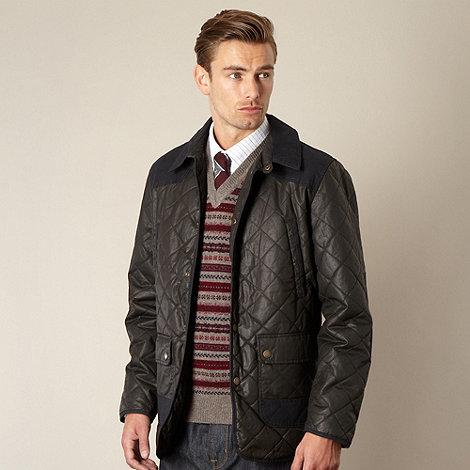 Hammond & Co. by Patrick Grant - Designer dark olive +Renbold+ cotton quilted jacket