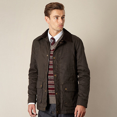 Hammond & Co. by Patrick Grant - Designer dark olive +Dalston+ cotton hunting jacket