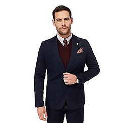 Hammond & Co. by Patrick Grant - Big and tall navy cotton single breasted jacket