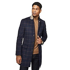 Hammond & Co. by Patrick Grant - Navy wool blend windowpane check Epsom jacket