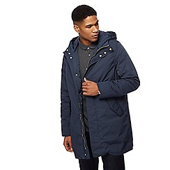 Hammond & Co. by Patrick Grant - Big and tall navy shower resistant parka coat