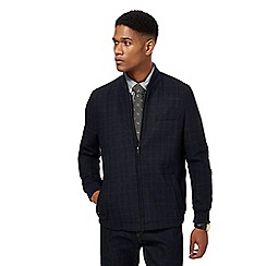 Hammond & Co. by Patrick Grant - Navy checked wool blend bomber jacket
