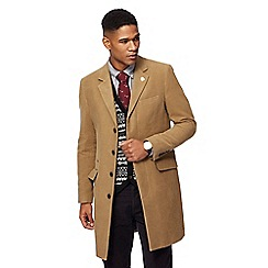 Hammond & Co. by Patrick Grant - Big and tall camel moleskin longline epsom jacket