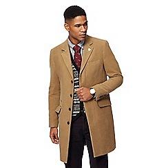 Hammond & Co. by Patrick Grant - Camel moleskin longline Epsom jacket