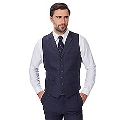 Hammond & Co. by Patrick Grant - Big and tall navy checked waistcoat with wool