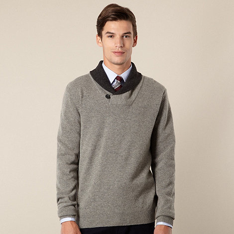 Hammond & Co. by Patrick Grant - Designer grey shawl neck jumper