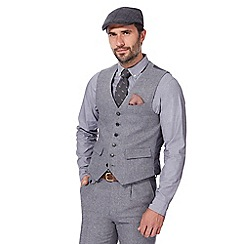 Hammond & Co. by Patrick Grant - Big and tall light grey wool blend waistcoat