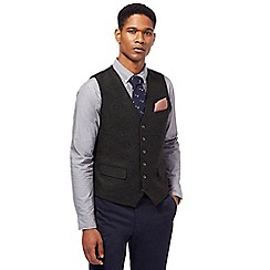 Hammond & Co. by Patrick Grant - Dark green twill wool blend waistcoat