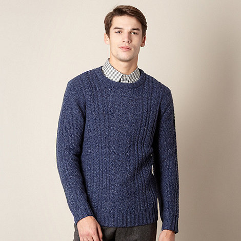 Hammond & Co. by Patrick Grant - Designer blue cable knit jumper