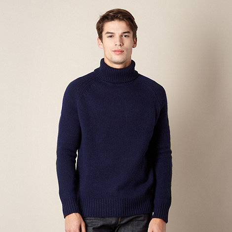 Hammond & Co. by Patrick Grant - Designer navy roll neck jumper