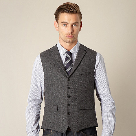 Hammond & Co. by Patrick Grant - Designer grey +Foundary+ herringbone waistcoat
