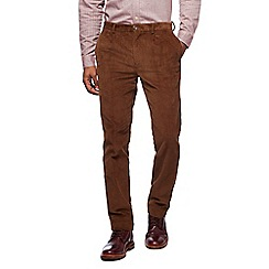 Hammond & Co. by Patrick Grant - Big and tall tan pleat front cord trousers