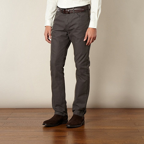 Hammond & Co. by Patrick Grant - Designer dark grey +Cavalry+ twill 5 pocket trousers