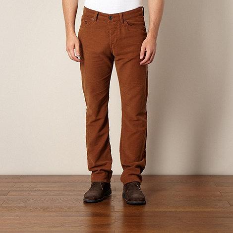 Hammond & Co. by Patrick Grant - Designer tan moleskin 5 pocket trousers