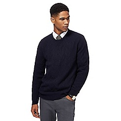 Hammond & Co. by Patrick Grant - Navy cable knit jumper