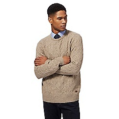 Hammond & Co. by Patrick Grant - Big and tall natural cable knit jumper