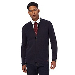 Hammond & Co. by Patrick Grant - Big and tall navy zip through knitted jacket with wool
