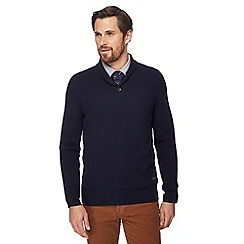 Hammond & Co. by Patrick Grant - Knitted lambswool rich shawl collar jumper
