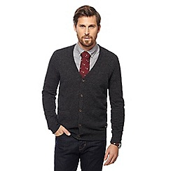 Hammond & Co. by Patrick Grant - Dark grey knitted button though cardigan