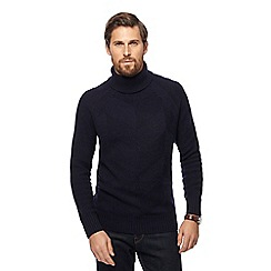 Hammond & Co. by Patrick Grant - Navy chevron roll neck jumper