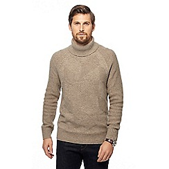 Hammond & Co. by Patrick Grant - Natural chevron roll neck jumper