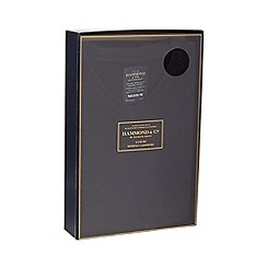 Hammond & Co. by Patrick Grant - Big and tall navy V-neck merino cashmere blend jumper in a gift box