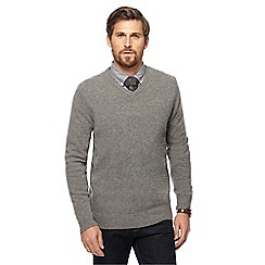 Hammond & Co. by Patrick Grant - Light grey V-neck Merino cashmere blend jumper in a gift box