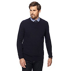 Hammond & Co. by Patrick Grant - Big and tall navy crew neck merino cashmere blend jumper in a gift box