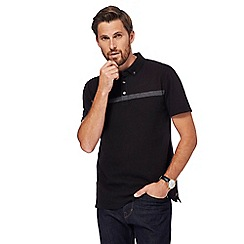 Hammond & Co. by Patrick Grant - Big and tall black textured polo shirt