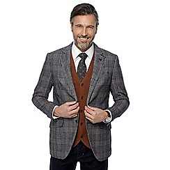 Hammond & Co. by Patrick Grant - Big and tall brown Prince of Wales check blazer