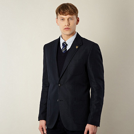 Hammond & Co. by Patrick Grant - Designer navy +Belgrade+ sharkskin blazer