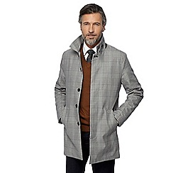 Hammond & Co. by Patrick Grant - Big and tall grey checked mac