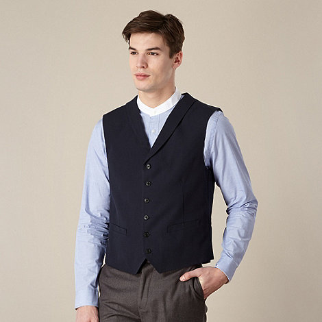 Hammond & Co. by Patrick Grant - Designer navy basketweave waistcoat