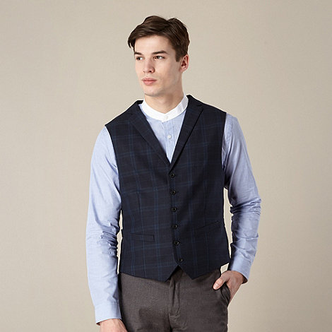 Hammond & Co. by Patrick Grant - Designer navy +Falcon+ check waistcoat