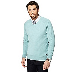 Hammond & Co. by Patrick Grant - Light green V-neck jumper