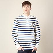 Big and tall designer off white cloudsley fine strip rugby top