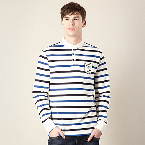 Hammond & Co. by Patrick Grant - Designer off white +Cloudsley+ fine strip rugby top
