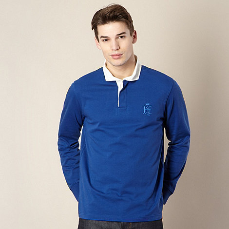 Hammond & Co. by Patrick Grant - Designer bright blue +Dodson+ rugby shirt
