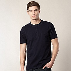 Hammond & Co. by Patrick Grant - Designer navy 'Castel' henley top