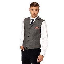 Hammond & Co. by Patrick Grant - Designer grey 'Quaker' twill lapel waistcoat